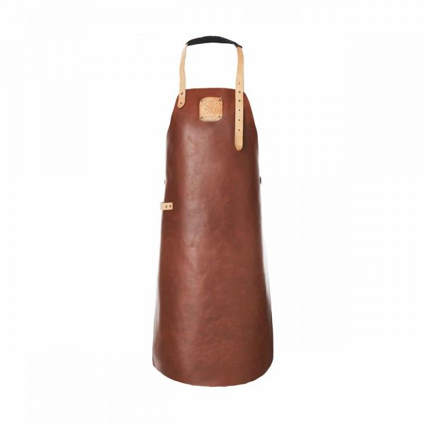 Witloft apron classic collection cognac colored with a nude strap