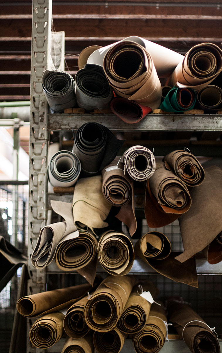 WITLOFT Leather Factory Story Rolls of high quality leather