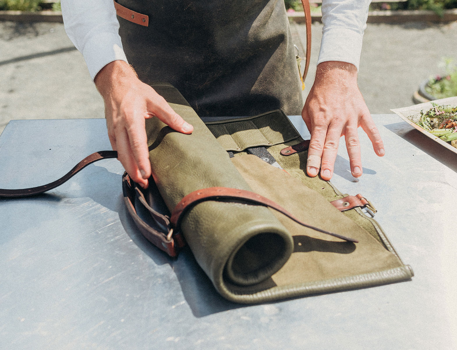 WITLOFT Cooking in Brooklyn Story unfolding a knife roll
