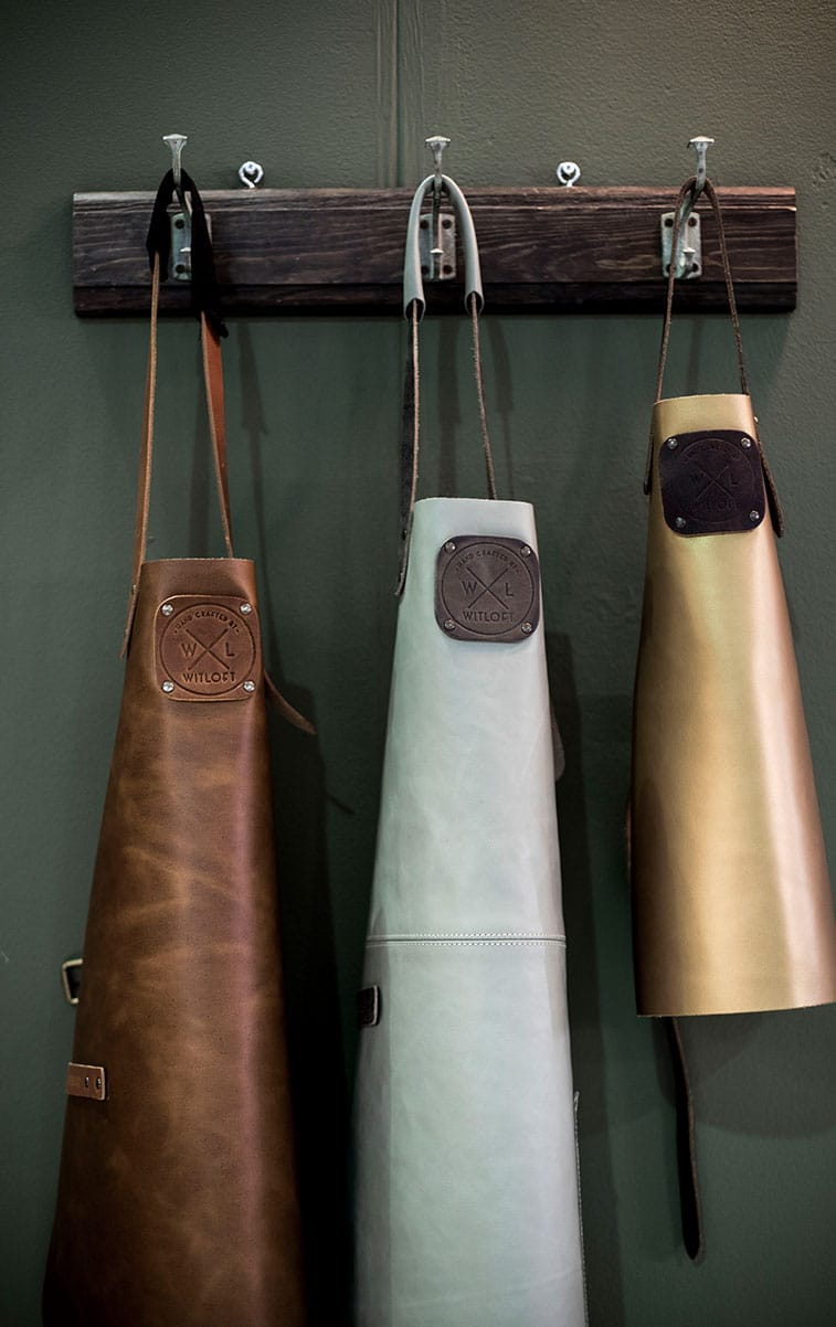 WITLOFT Top Drawer story leather aprons