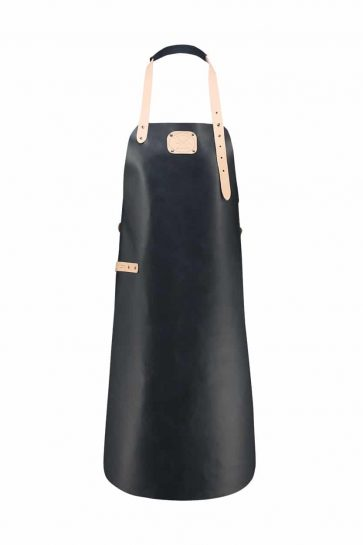 Witloft apron classic collection dark navy colored with a nude strap