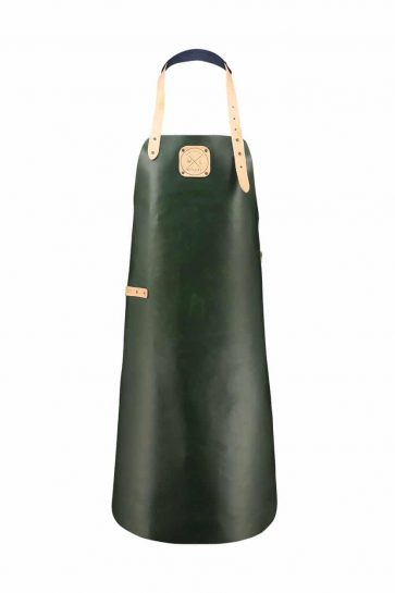Witloft apron classic collection green colored with a nude strap