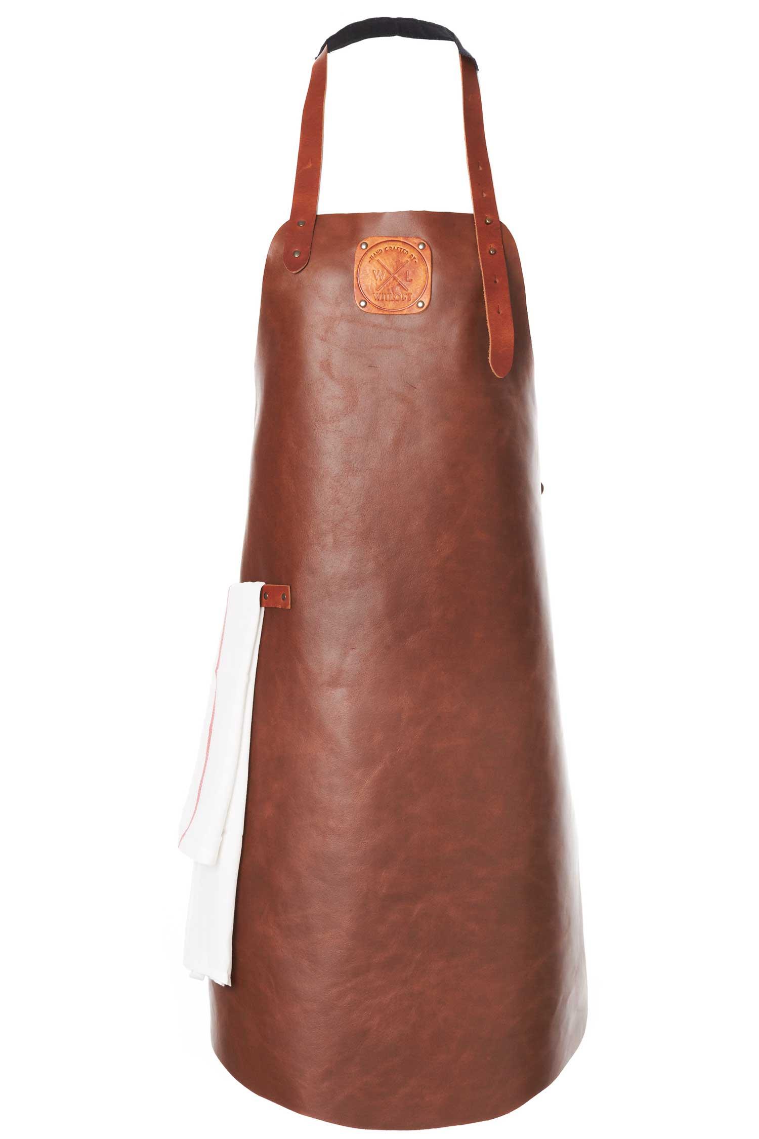 Witloft apron classic collection cognac colored with a cognac strap