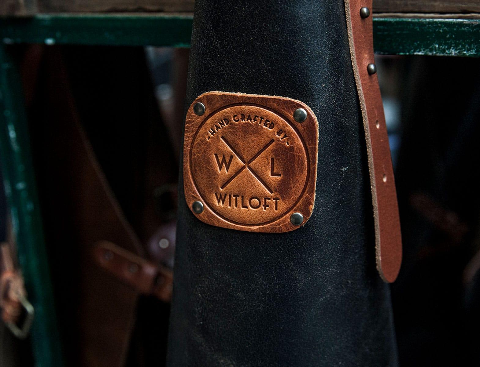 WITLOFT Butchers Heaven Story black leather apron