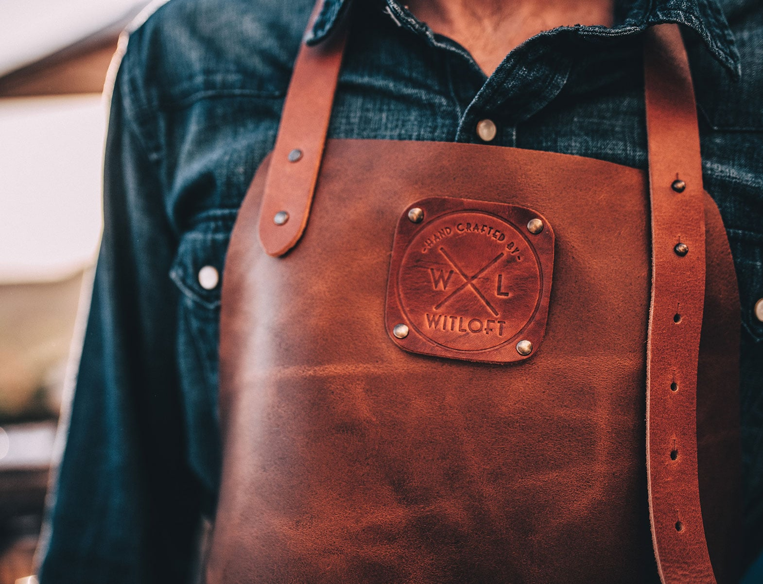 WITLOFT Countryside Story Cognac colored apron