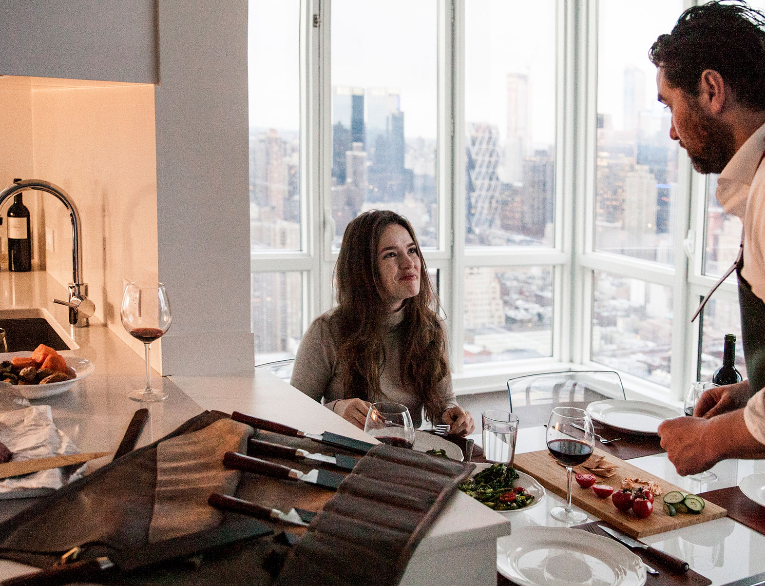WITLOFT Penthouse in NYC Story romantic dinner for two