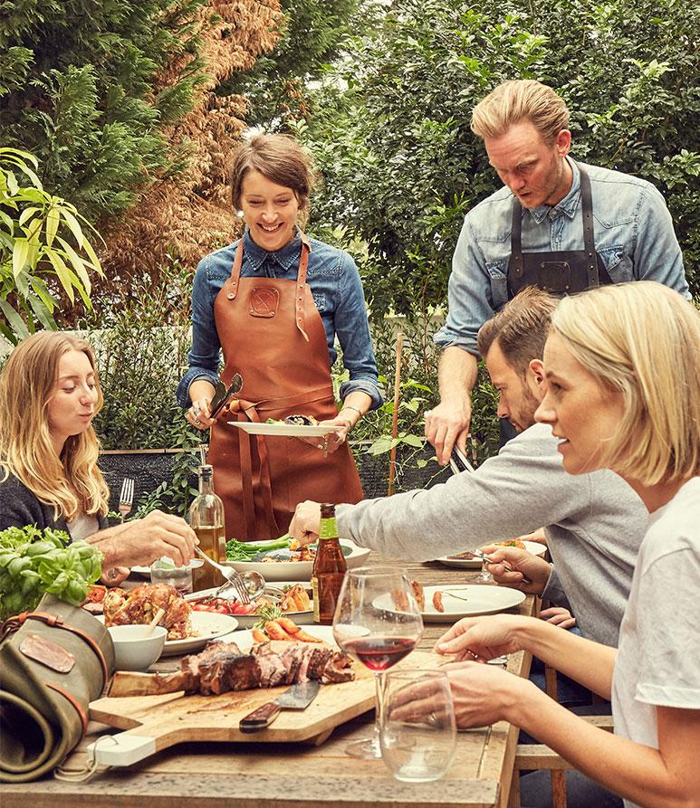 barbecueën met vrienden