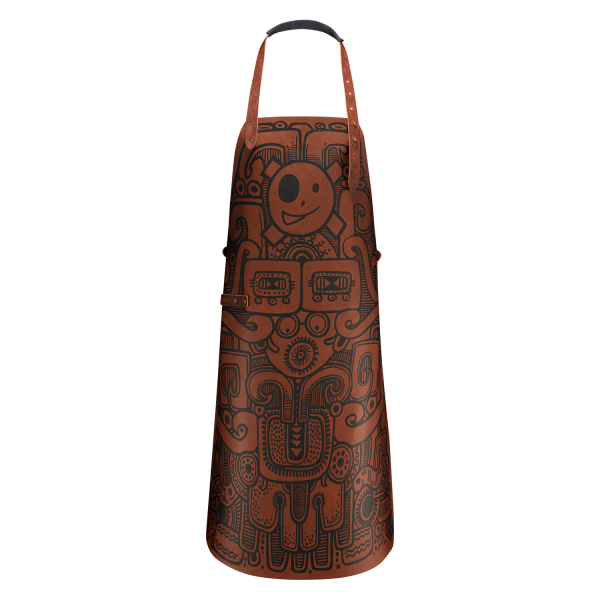 leather apron barbacoa design